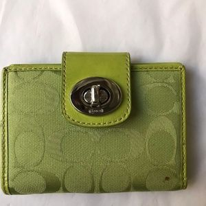 Coach Green Wallet